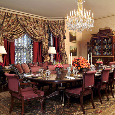 Ann Getty Ociates Elegant Dining Room